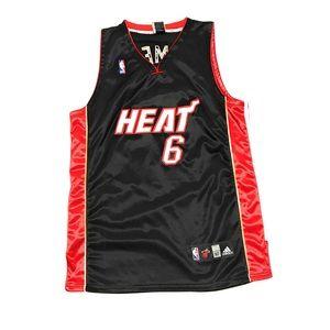 more photos 38424 e3a21 Lebron James Miami Heat Adidas Sewn NBA Jersey